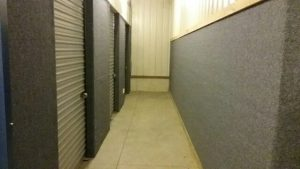 front of commercial self storage units